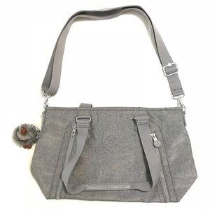 Brand new Kipling bag gray / silver.